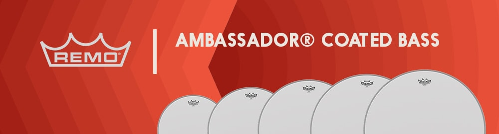 REMO AMBASSADOR® COATED BASS