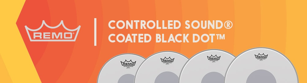REMO CONTROLLED SOUND® COATED BLACK DOT™