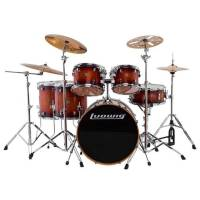 Ludwig Evolution Maple LCEM622XMB Mahogany Burst Shell Set Bateri (10-12-14-14-16-22)