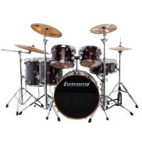 Ludwig Evolution Maple LCEM622XTB Trans Black Shell Set Bateri (10-12-14-14-16-22)