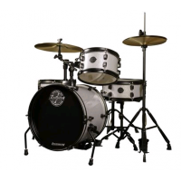 Ludwig The Pocket Kit by Questlove Silver Sparkle Çocuklar İçin Akustik Davul Seti