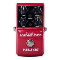 NUX Scream Bass Bas Gitar Overdrive Pedalı